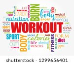 workout word cloud collage ... | Shutterstock .eps vector #1299656401