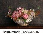 elegant interior bouquet in a... | Shutterstock . vector #1299664687