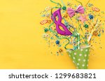 party colorful confetti and... | Shutterstock . vector #1299683821
