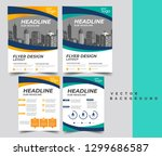 flyer pamphlet brochure cover... | Shutterstock .eps vector #1299686587