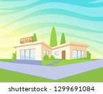flat style modern architecture... | Shutterstock .eps vector #1299691084