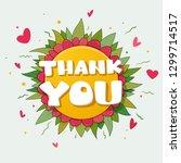 """""""thank you"""" written on a flower   Shutterstock .eps vector #1299714517"""