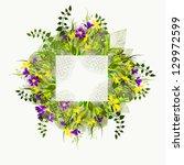 flower frame   Shutterstock .eps vector #129972599