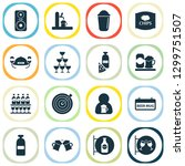 beverages icons set with ale... | Shutterstock . vector #1299751507