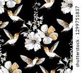 seamless pattern. exotic... | Shutterstock .eps vector #1299751837