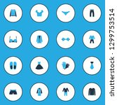 garment icons colored set with... | Shutterstock . vector #1299753514