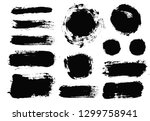brush strokes. vector... | Shutterstock .eps vector #1299758941