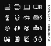 computer icons and and computer ... | Shutterstock .eps vector #129976001