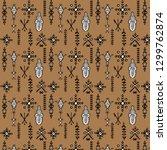 tribal seamless pattern  ... | Shutterstock .eps vector #1299762874