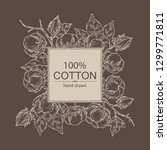 background with cotton  cotton... | Shutterstock .eps vector #1299771811