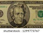macro shot of twenty dollar bill | Shutterstock . vector #1299773767