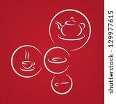 stylized tea icon set | Shutterstock .eps vector #129977615