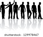 silhouette of a man | Shutterstock .eps vector #129978467