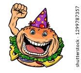 birthday fast food burger....