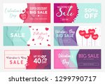 collection of six sale banner... | Shutterstock .eps vector #1299790717