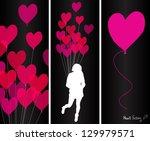 illustration with pink heart...   Shutterstock .eps vector #129979571