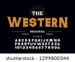 western style retro alphabet...   Shutterstock .eps vector #1299800344