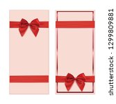two gift card  banner or poster ... | Shutterstock . vector #1299809881