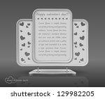 modern construction  valentines ... | Shutterstock .eps vector #129982205