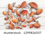 tabletop view  freshly picked... | Shutterstock . vector #1299826537