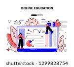 online education. video... | Shutterstock .eps vector #1299828754