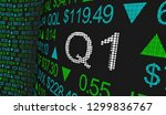 q1 1st first quarter period... | Shutterstock . vector #1299836767