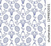 seamless pattern with bells ... | Shutterstock .eps vector #1299852031