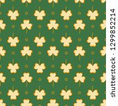 seamless pattern with clover...   Shutterstock .eps vector #1299852214