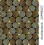 Seamless triple celtic spiral pattern in trance colors. - stock vector