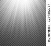 sun rays on transparent...   Shutterstock . vector #1299852787