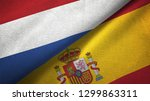 netherlands and spain two flags ... | Shutterstock . vector #1299863311