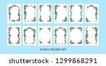 black elegant frames set of... | Shutterstock .eps vector #1299868291