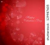valentine's day or wedding... | Shutterstock .eps vector #129987605