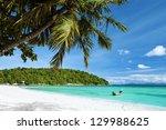 tropical beach | Shutterstock . vector #129988625