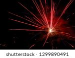 red firework apocalypse   Shutterstock . vector #1299890491