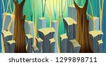 background for games. forest... | Shutterstock .eps vector #1299898711