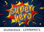 cartoon comic book with speech... | Shutterstock .eps vector #1299899071