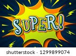 comic book background with... | Shutterstock .eps vector #1299899074