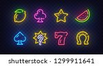 isolated game icons for casino. ... | Shutterstock .eps vector #1299911641