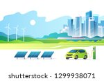 concept of renewable energy.... | Shutterstock .eps vector #1299938071