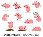 funny collection of a cartoon... | Shutterstock .eps vector #1299938161