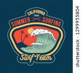 big ocean wave on california... | Shutterstock .eps vector #1299955804