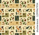 seamless vector pattern.... | Shutterstock .eps vector #1299967954