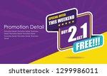 sale banner template design ... | Shutterstock .eps vector #1299986011