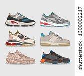 set of modern shoes | Shutterstock .eps vector #1300002217