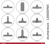 us states   symbolized by the... | Shutterstock .eps vector #130000985