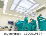 orthopedic surgeon doing foot... | Shutterstock . vector #1300019677