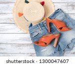 womens clothing  accessories  ... | Shutterstock . vector #1300047607