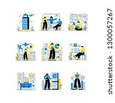 business and finance. flat line ...   Shutterstock .eps vector #1300057267