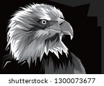 mighty eagle  made with the... | Shutterstock .eps vector #1300073677